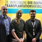 Professor Eckhard Nagel, Chantal Bausch und Jan Kurtenbach (v.l.) auf der DTG-Jahrestagung